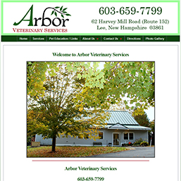 arbor veterinary services screen shot